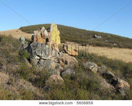 Grande stone on mounten in portugal