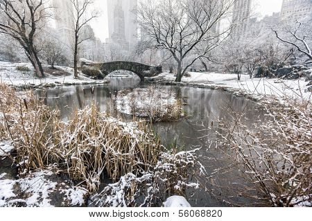 Central Park, New York City Gapstow Bridge