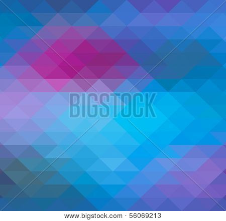 Geometric Triangle neon background pattern