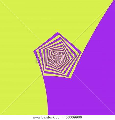Lemon And Lilac Pentagon Spiral