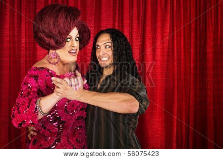 Man Dancing With Transvestite