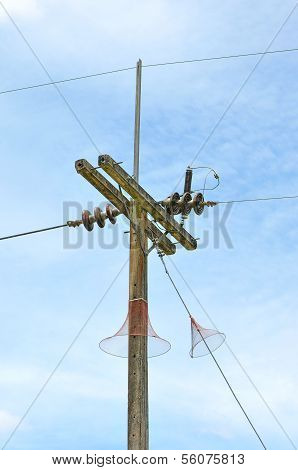 Electric Post With Snake Guard
