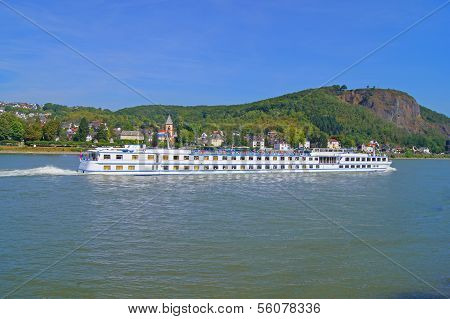 River cruise ship on the Rhine