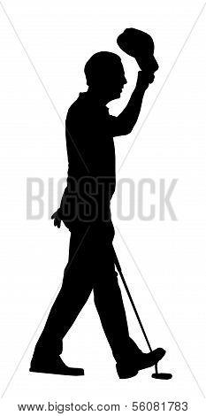 Golf Sport Silhouette – Golfer Lifting Cap