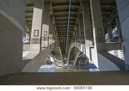 Road Bridge - View From Below.