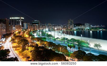 Night View of Botafogo Beach