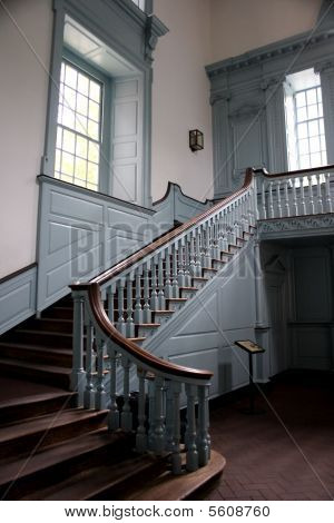 Colonial Staircase Stock Photo Stock Images Bigstock