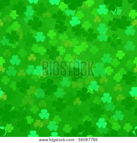 illustration of a seamless shamrock pattern, eps10