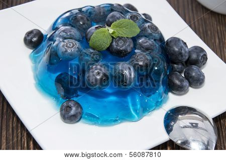 Portion Of Blueberry Jello