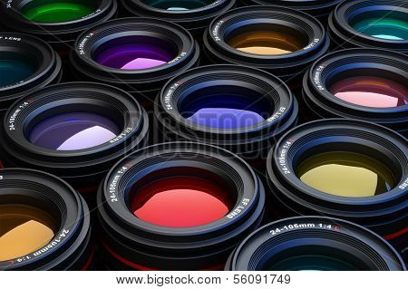 Camera Lenses photography theme background