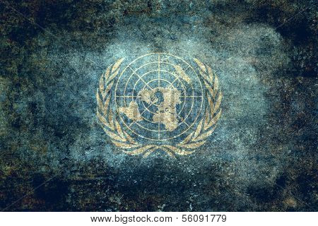 The United Nations Flag - Distressed version