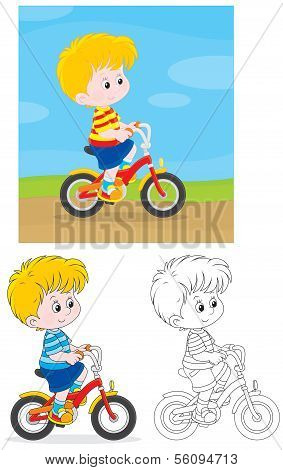 Boy bicyclist