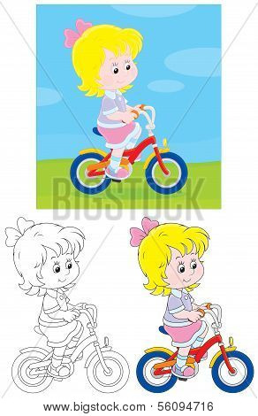 Girl bicyclist