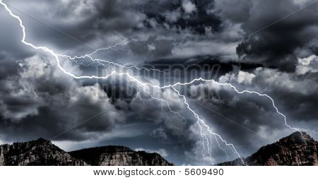 Lightning Storm forces of nature
