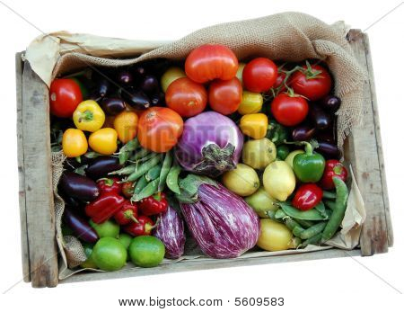 Vegetables Box Isolated