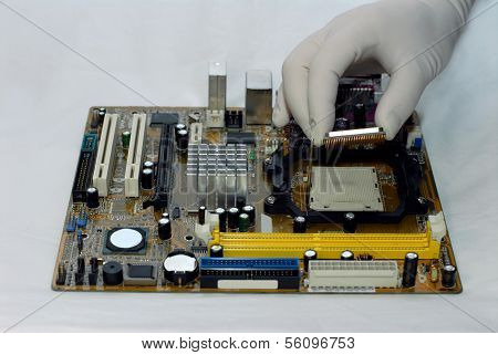 installing Central processor