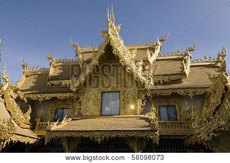 Rongkoon white Temple in thailand