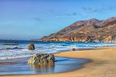 stock photo of pch  - Early Dusk on the Beach at Garrapata State Park - JPG