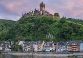 image of moselle  - the popular Cochem at Mosel River - JPG