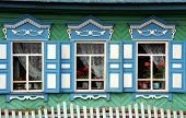 Beautifully Carved And Decorated Windown Panes Of A Traditional Russian House In A Secluded Village