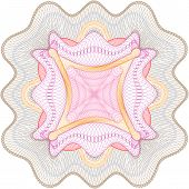 picture of rosettes  - Vector guilloche rosette for certificate - JPG