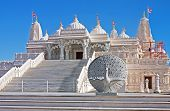 image of bap  - Religious place of worship BAPS Swaminarayan Sanstha Hindu Mandir Temple made of marble in Lilburn Atlanta - JPG