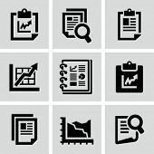 Business report document icon