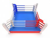 stock photo of boxing ring  - Boxing ring - JPG