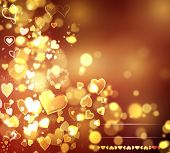 stock photo of corazon  - Valentine Hearts Abstract Background - JPG