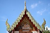 picture of gable-roof  - Gable apex emblazoned on the roof of the temple Thailand - JPG