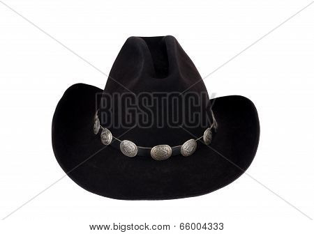 Cowboy Hat with Silver Concho Hatband.