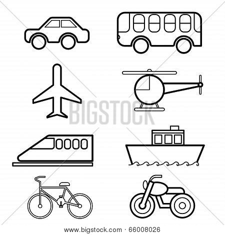 Transportation Icon Set Vector.eps