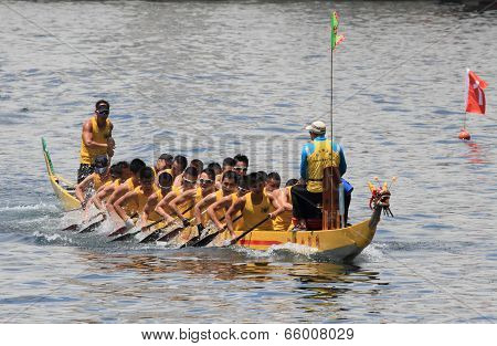 dragonboat race at Chai Wan Bay