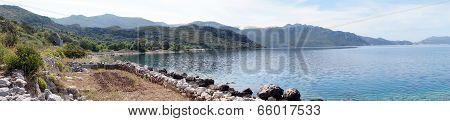 Panorama Of Sea And Coast