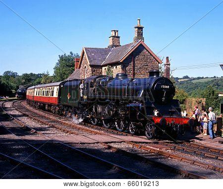 British Railways steam train, Highley.