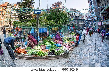 Vegetable Market In Kathmandu