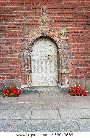 Door Of The Building Of A City Hall, Stockholm, Sweden