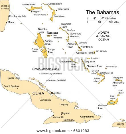 Bahamas, Islands, Major Cities and Capital