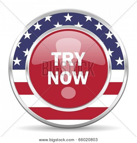 try now american icon, usa flag