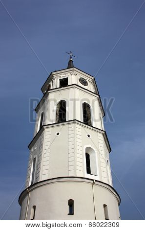 Bell tower of the Cathedral of St. Stanislaus. Lithuania, Vilnius.