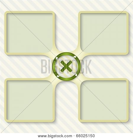 Four Boxes For Entering Text With Arrows And Ban Sign
