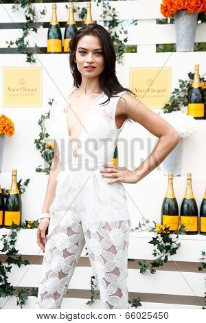 JERSEY CITY, NJ-MAY 31: Model Shanina Shaik attends the 7th Annual Veuve Cliquot Polo Classic at Liberty State Park on May 31, 2014 in Jersey City, NJ.