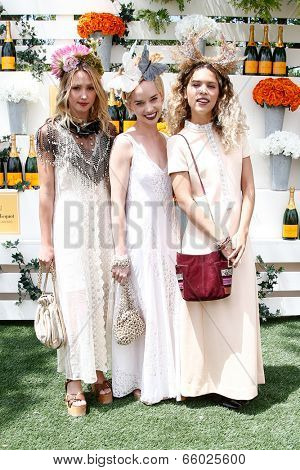 JERSEY CITY, NJ-MAY 31: (L-R) Kate Greer, Margot and Cleo Wade attend the 7th Annual Veuve Cliquot Polo Classic at Liberty State Park on May 31, 2014 in Jersey City, NJ.