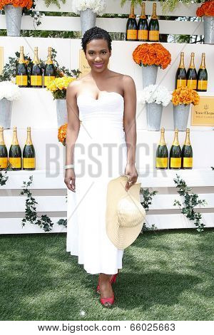 JERSEY CITY, NJ-MAY 31: Actress Vicky Jeudy attends the 7th Annual Veuve Cliquot Polo Classic at Liberty State Park on May 31, 2014 in Jersey City, NJ.