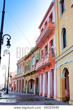 Cuba. Streets of Old Havana.Cityscape in a sunny day