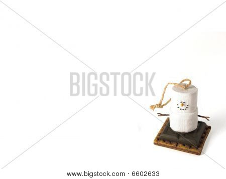 Smores Snowman Christmas Ornament