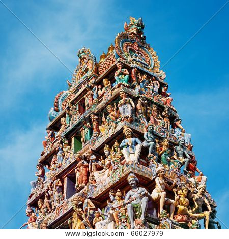 Sri Mariamman Hindu Temple in Singapore.