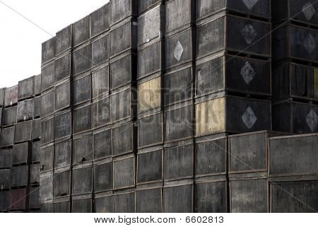 Towers Of Stacked Crates