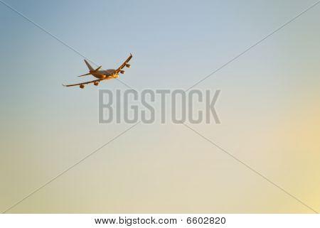 Sunset Plane Departure