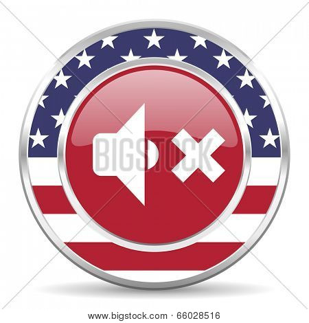 speaker volume american icon, usa flag